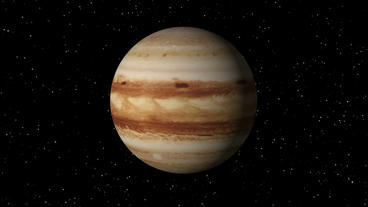 Jupiter Rotating Seamless Loop Stock Video Footage