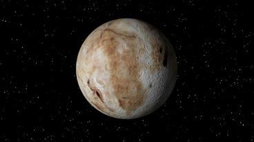 Pluto Rotating Seamless Loop Stock Video Footage