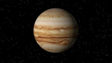 Satellite Approaches Jupiter Stock Video Footage
