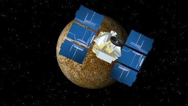 Satellite Approaches Mercury Animation