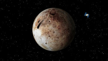 Satellite Approaches Pluto Stock Video Footage