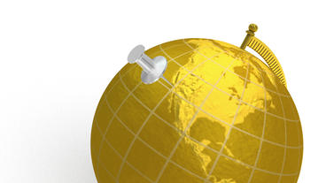 Gold globe spins, pin lands on Los Angeles Animation