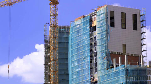Crane and construction site 2 Stock Video Footage