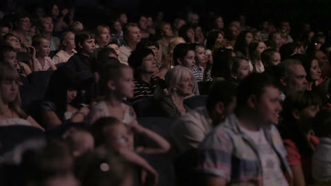 Audience applauded in the theater Stock Video Footage