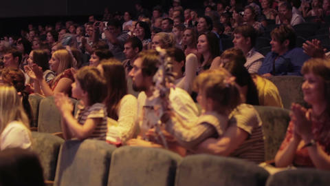 Audience applauded in theater or in cinema Footage