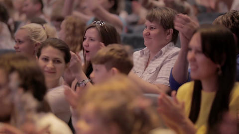 Audience applauded at theatrical performance Stock Video Footage