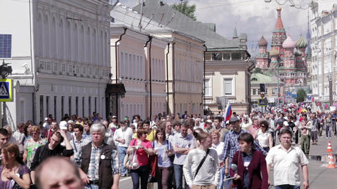 Opposition protest in Russia Stock Video Footage