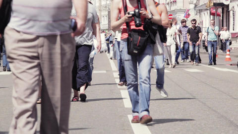 People walking in Moscow Stock Video Footage