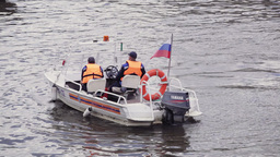 Motor-boat of the Russian Emergency Situations Min Stock Video Footage