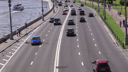 Car traffic in the center of Moscow Stock Video Footage