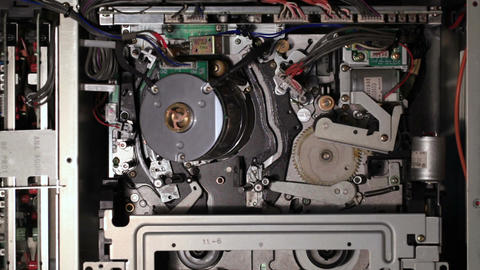 Internal mechanisms of the pro VCR Stock Video Footage