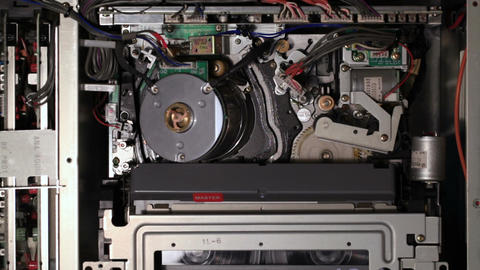 Internal Mechanisms Of The Pro VCR stock footage