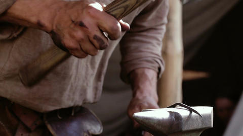 Blacksmith at work 1 Footage
