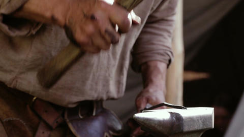 Blacksmith at work 1 Stock Video Footage