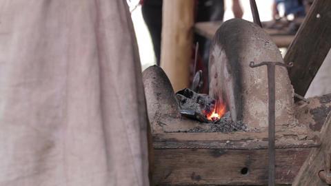 Blacksmith at work 3 Stock Video Footage