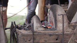 Blacksmith at work 3 Stock Video Footage