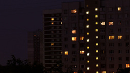 Buildings at night 1 Stock Video Footage