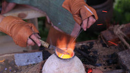 Glass artist in his workshop 3 Stock Video Footage