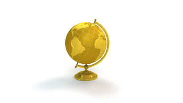 Gold globe spins, pin lands on Miami Florida Stock Video Footage