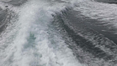 Boat wake Stock Video Footage