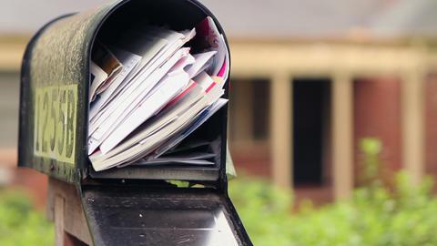 Rack Focus on Mailbox Stock Video Footage