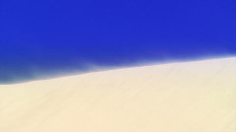 Wind blowing on sand dune Stock Video Footage