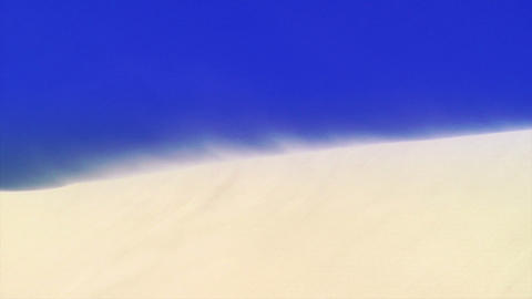 Wind blowing on sand dune Footage
