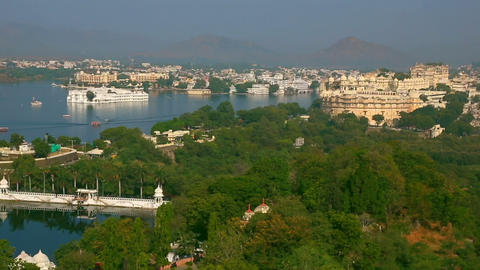 Panorama of Udaipur Footage