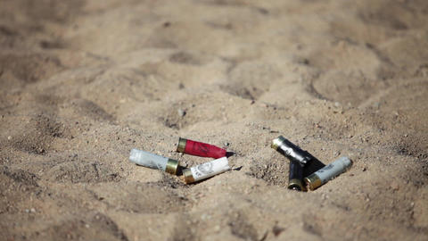 fired cartridges Stock Video Footage