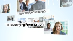 Business Flying Presentation - Apple Motion and Final Cut Pro X Template Plantilla de Apple Motion