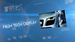 High Tech Flying Display - Apple Motion and Final Cut Pro X Template Apple Motion Template