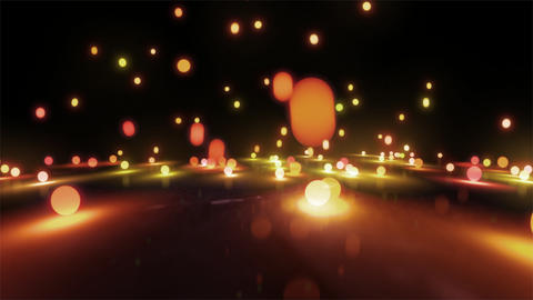 orange light balls falling Stock Video Footage