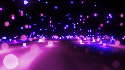 purple color tone light balls falling Stock Video Footage