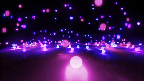 purple color tone light balls falling Animation