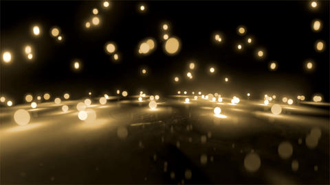 rice white light balls falling Stock Video Footage