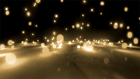 rice white light balls falling Animation