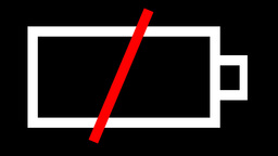 Animated Battery Symbol Stock Video Footage
