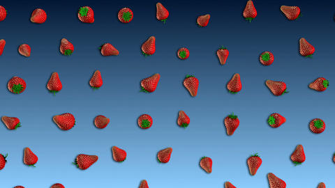 Fresh Strawberry Loop Animation