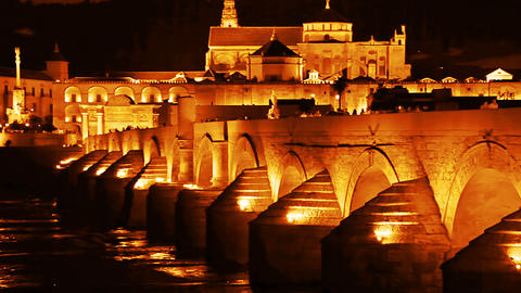 Cordoba. Roman Bridge stock footage