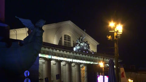 The building of the stock Exchange in St. Petersbu Stock Video Footage