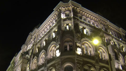 The facade of an old building in St. Petersburg Ni Footage