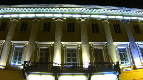 Old house on the Italian street in St. Petersburg  Footage