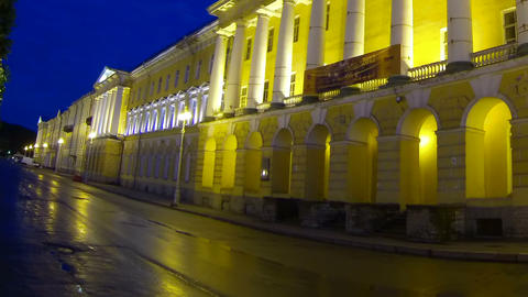 The building of Lenenergo Petersburg Night Stock Video Footage
