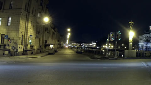 Mikhailovsky castle in St. Petersburg Night Stock Video Footage