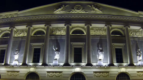 Public library in St. Petersburg Night Footage