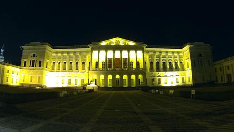 Russian Museum in St. Petersburg Night Stock Video Footage