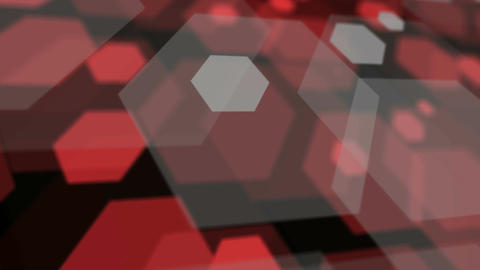 overlay hexagon space Stock Video Footage