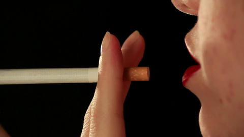 Woman cigarette Stock Video Footage