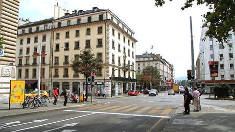 Geneva street Stock Video Footage