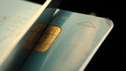 Credit card cut Stock Video Footage